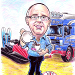 LORRY DRIVER CARICATURE