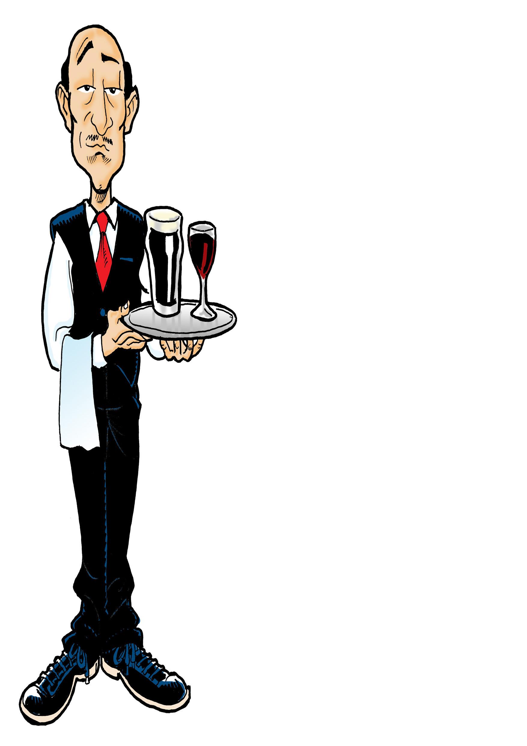 Cartoon Waiter  Shutterstock
